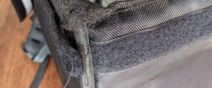 Velcro on Uber bag